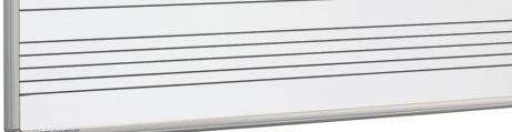 Whiteboard bedrukt notenbalken